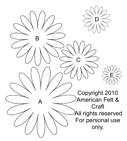 picture relating to Daisy Templates Printable called Sooner or later! A Daisy I Including! Flat Broke Bride