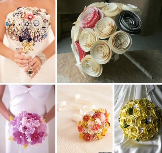Paper flowers flat broke bride for A lot of different flowers make a bouquet