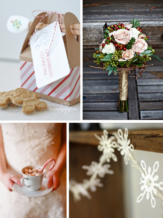 Gingerbread, Bouquet, Hot Cocoa, Snowflakes