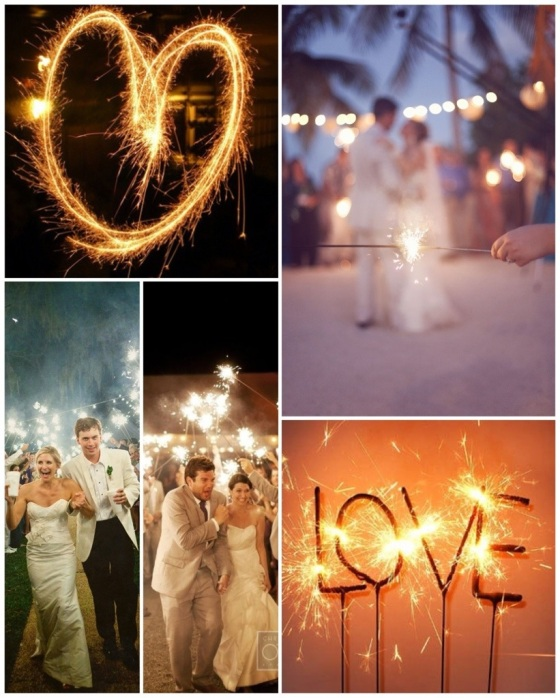Heart, Beach Wedding, Sparkler Send-off Left, Sparkler Send-off Right, Love