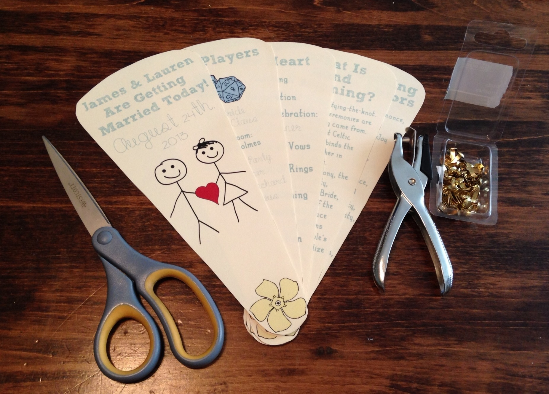 Program Fans For Summer Weddings DIY